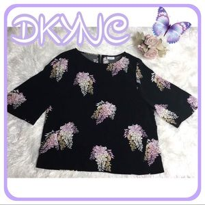 DKNYC top with detail zipper on back.